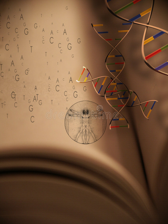 Download Book of Life: Genetics 2 stock illustration. Image of research - 632884