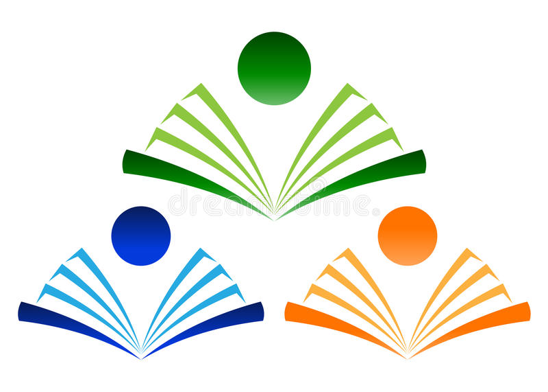 Book logo. Illustration of book logo design isolated on white background