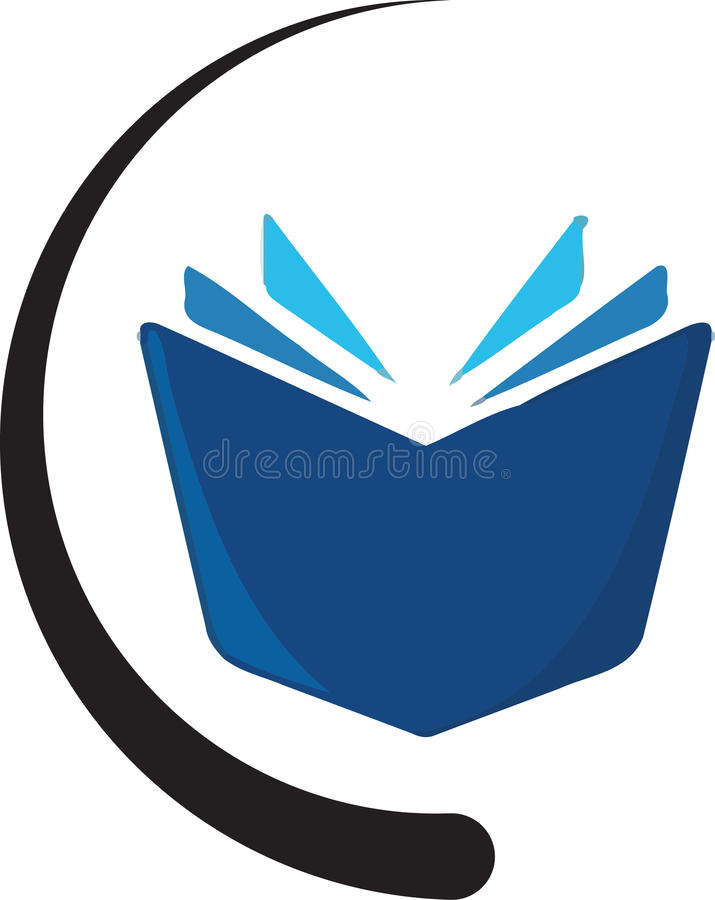 Book. With a logo concept been created as vector stock illustration