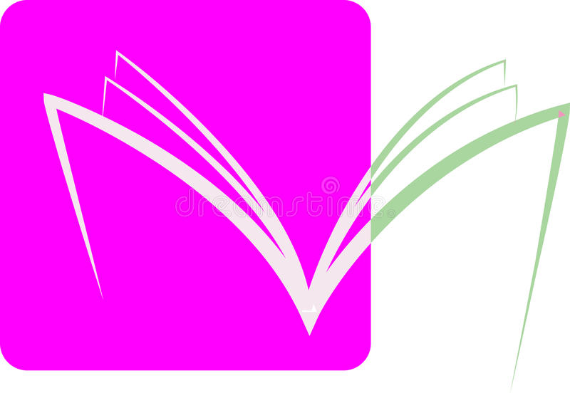 Book. For logo concept has been created as vector stock illustration