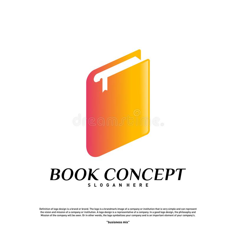 Book Logo concept. Smart Learning Education Logo Design Template Vector. Icon Symbol vector illustration