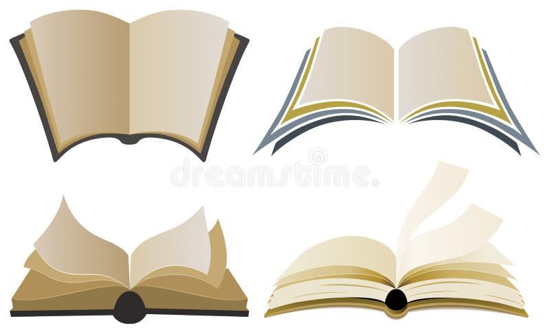 Book Logo Elements royalty free illustration
