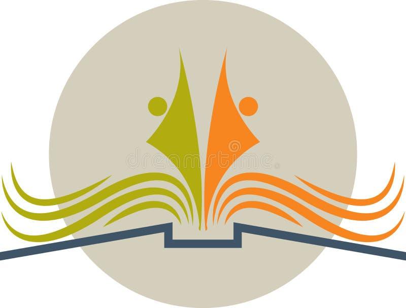 Book logo royalty free illustration