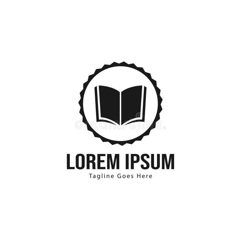 Booklogo Design:  Book Logo Template Design . Minimalist Book Logo With