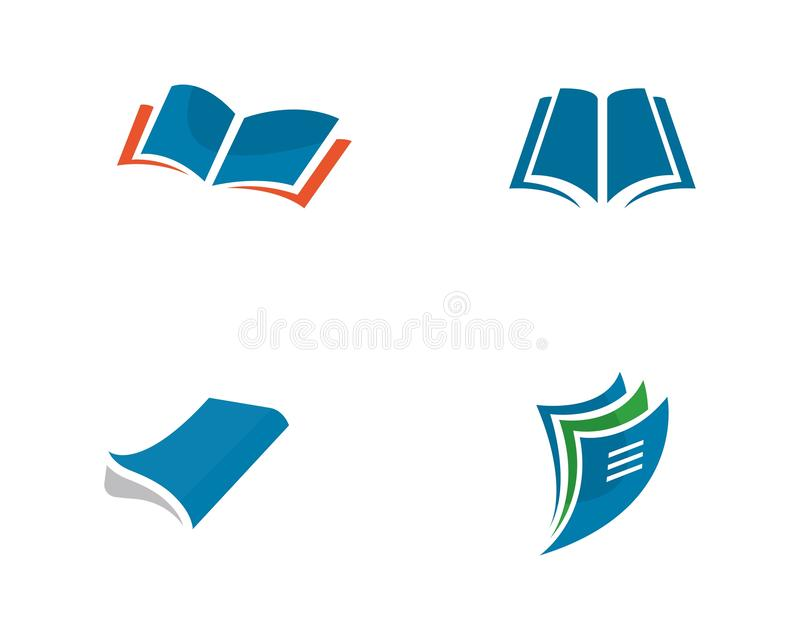 Book Logo Template royalty free illustration