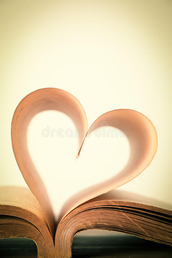 Book of love. The book of love, vintage stock photography