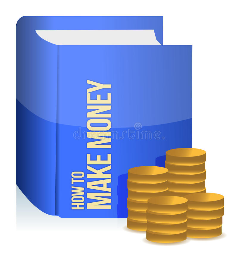 Book with a making money title royalty free illustration