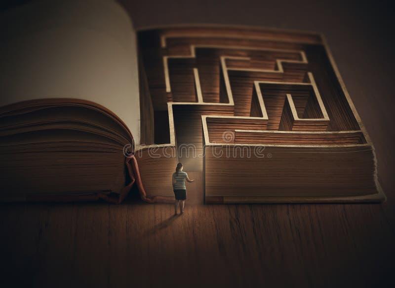 Book maze stock photography