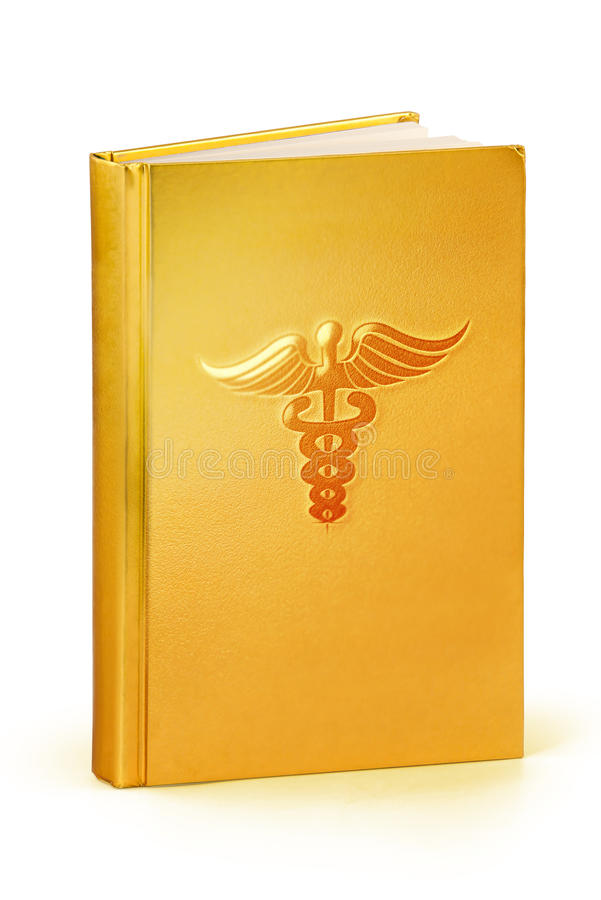 Book of medicine - clipping path stock photography