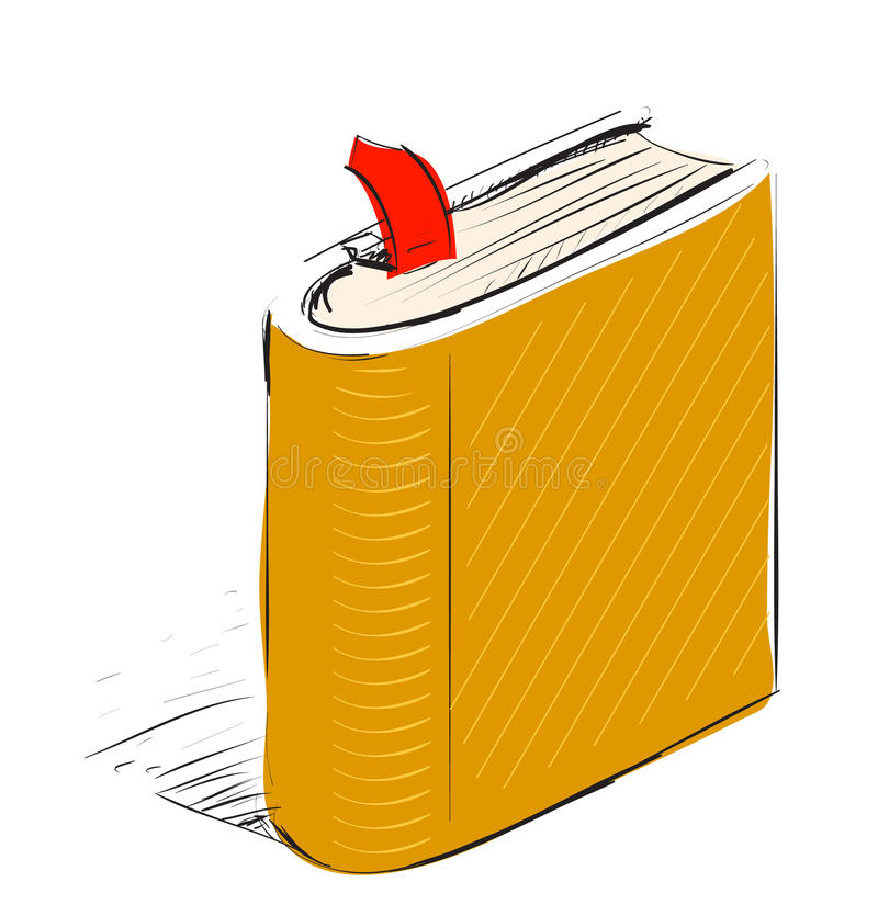 Download Book, Note Book With Bookmark Stock Vector - Illustration: 34502793
