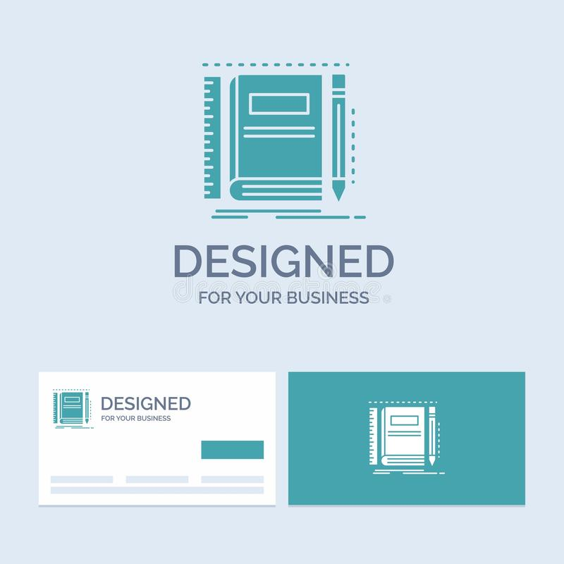 Book, notebook, notepad, pocket, sketching Business Logo Glyph Icon Symbol for your business. Turquoise Business Cards with Brand. Logo template.. Vector EPS10 vector illustration