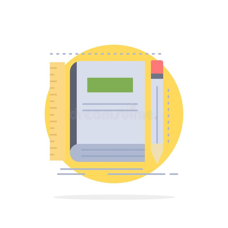 Book, notebook, notepad, pocket, sketching Flat Color Icon Vector royalty free illustration