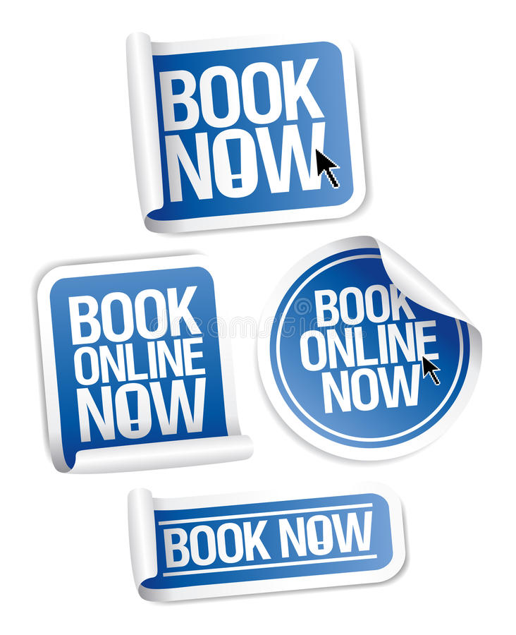 Free Book Now Stickers. Stock Photography - 18854622