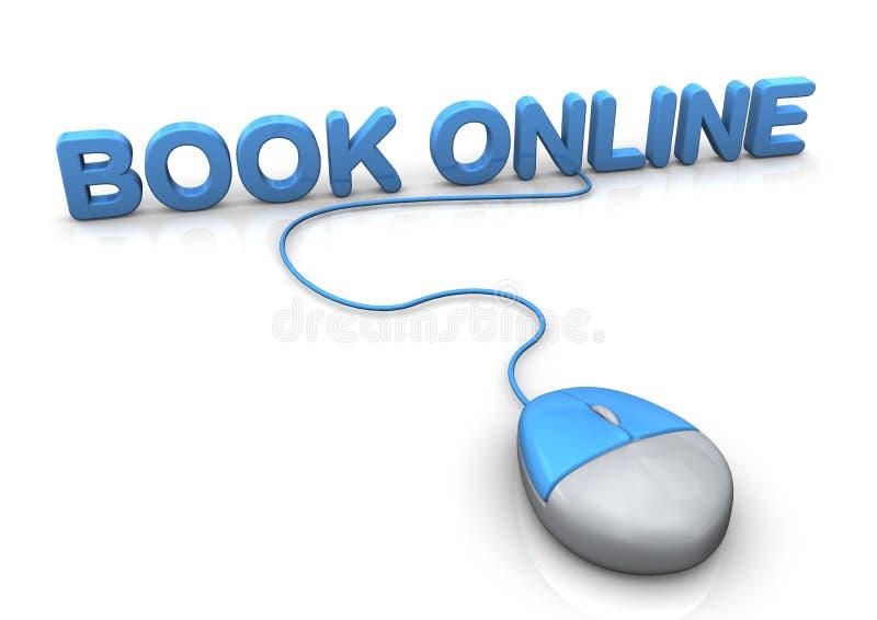 Book Online Mouse vector illustration