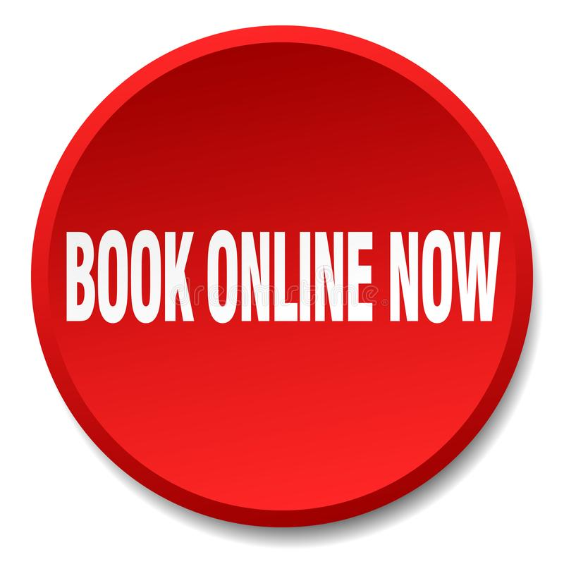 book online now button royalty free illustration