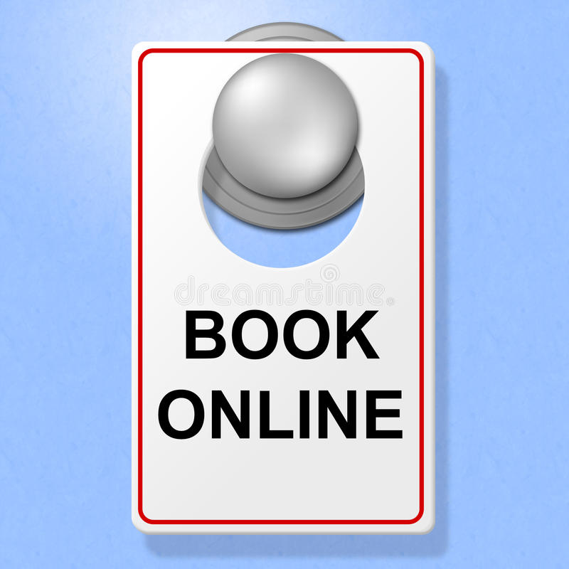 Free Book Online Sign Represents Single Room And Accommodation Royalty Free Stock Images - 46492669
