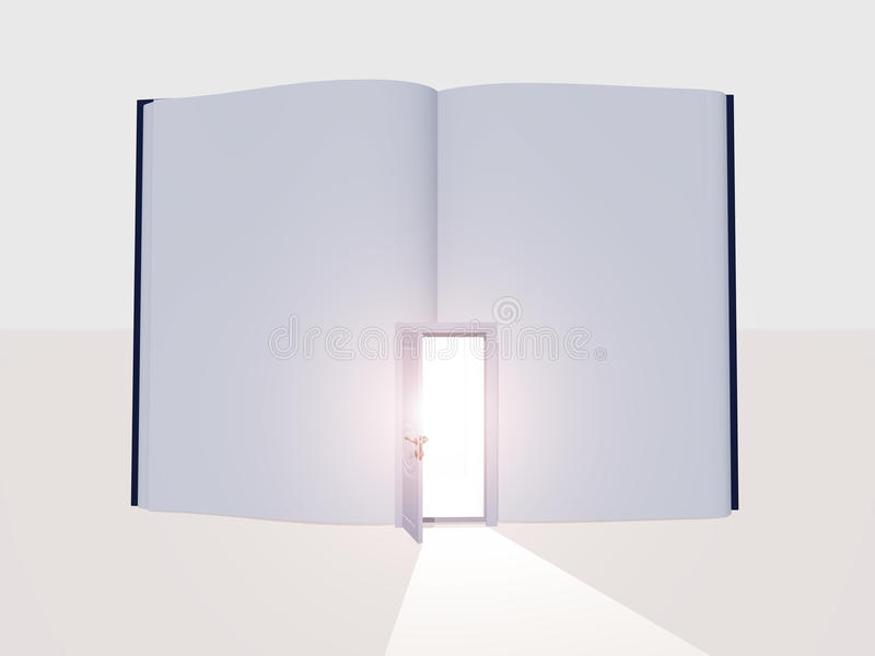 Book with open door royalty free illustration