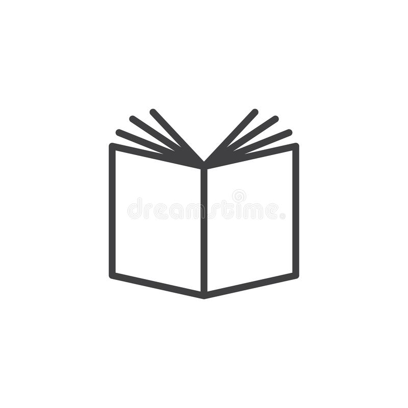 Book open outline icon vector illustration
