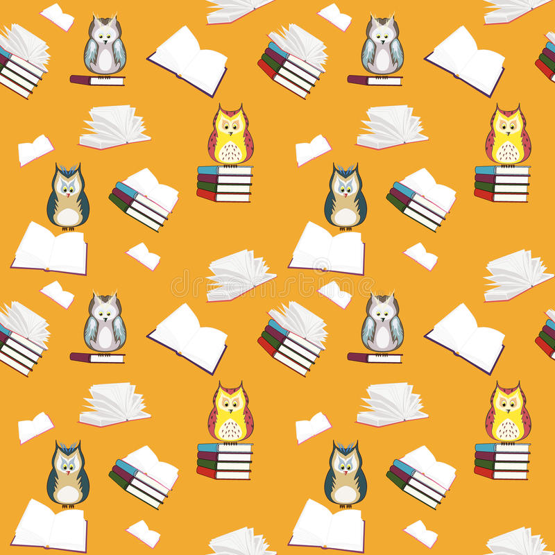 Download Book and owls stock illustration. Image of bird, pattern - 25906167