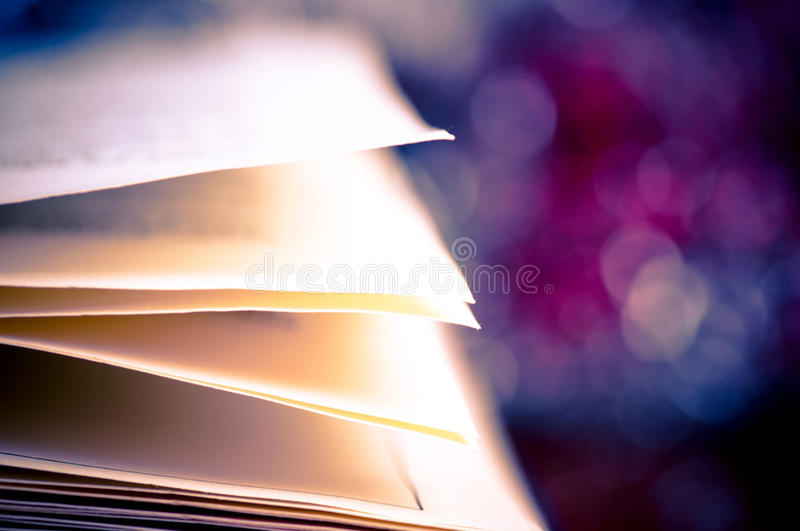 Download Book pages and bokeh stock image. Image of education - 23249391