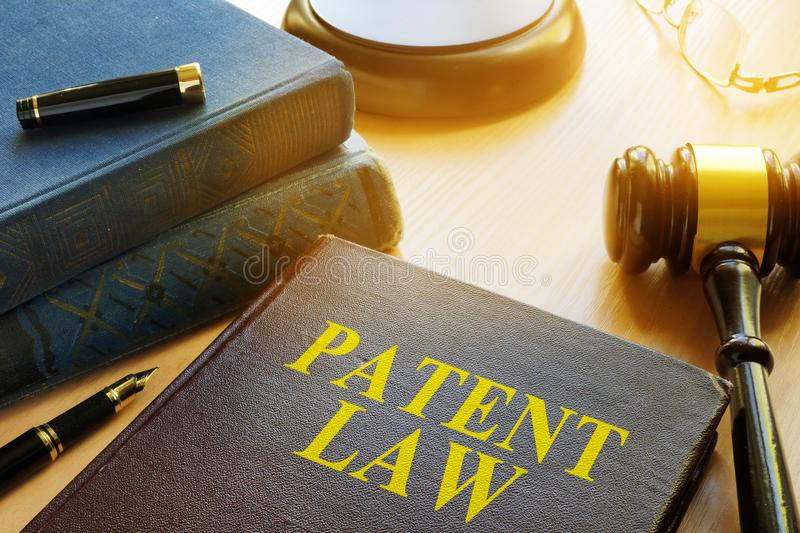 Book about Patent Law. Copyright concept. Book about Patent Law and gavel. Copyright concept royalty free stock photos