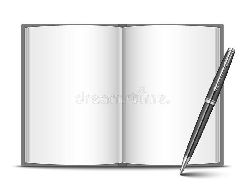 Download Book and pen stock illustration. Image of vector, communication - 36401686