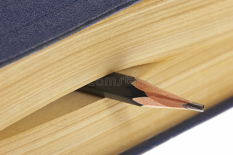 Book with pencil royalty free stock images