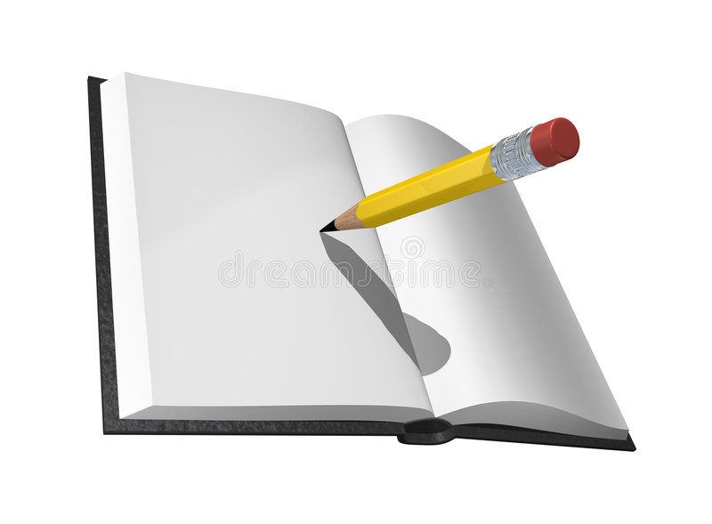Download Book and pencil stock illustration. Image of close, school - 5896860