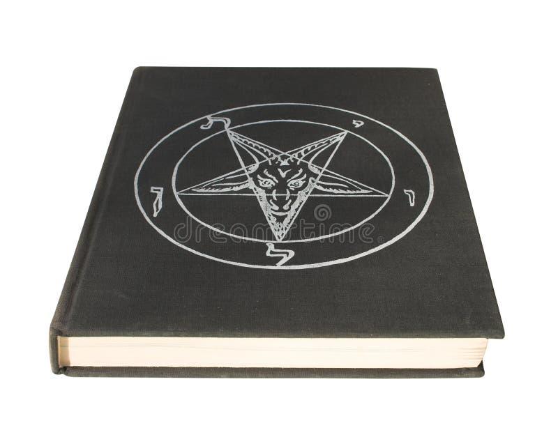 Book with pentagram stock photo