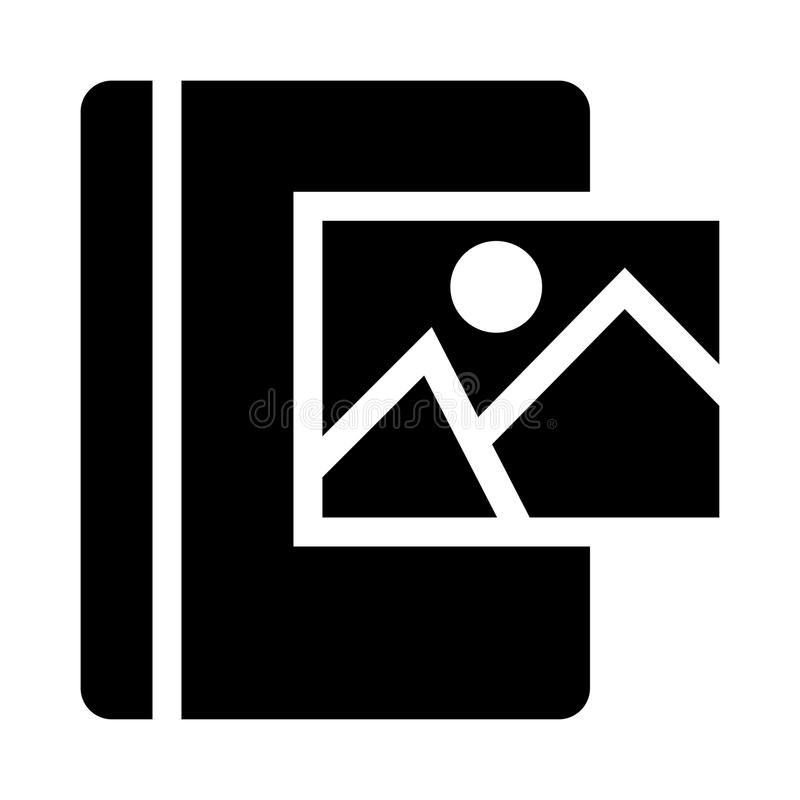 Book picture glyphs icon. Book picture Vector glyphs Icon. Elements for mobile concept and web apps. Thin line icons for website design and development, app stock illustration