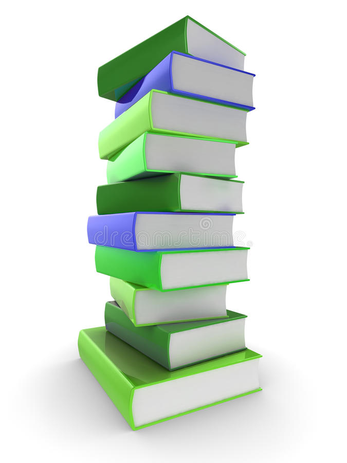 Download Book pile stock illustration. Image of learn, literary - 17105665