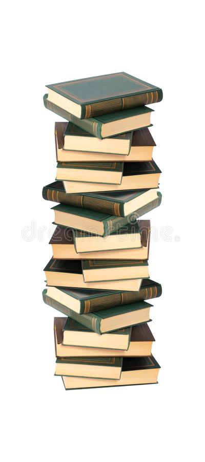Book - Pile of books. Isolated. Book - Very big image Pile of thick books on a white background. It is isolated, the worker of paths is present royalty free stock images