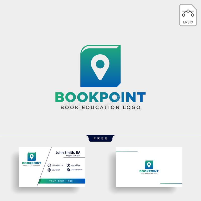 Book pin marker or navigation map simple line logo template vector illustration icon element. Vector file royalty free illustration