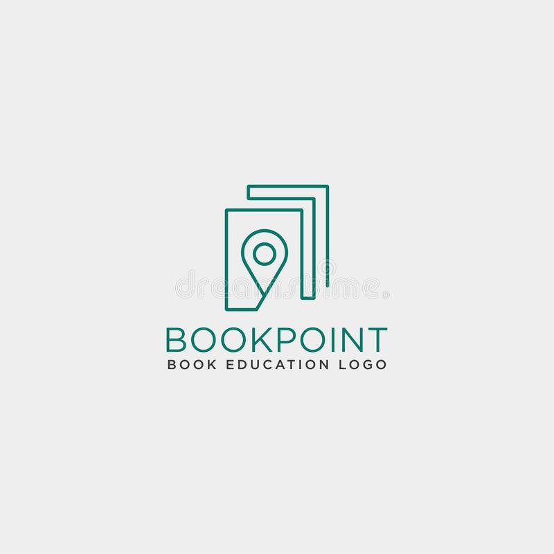 Book pin marker or navigation map simple line logo template vector illustration icon element. Vector file stock illustration