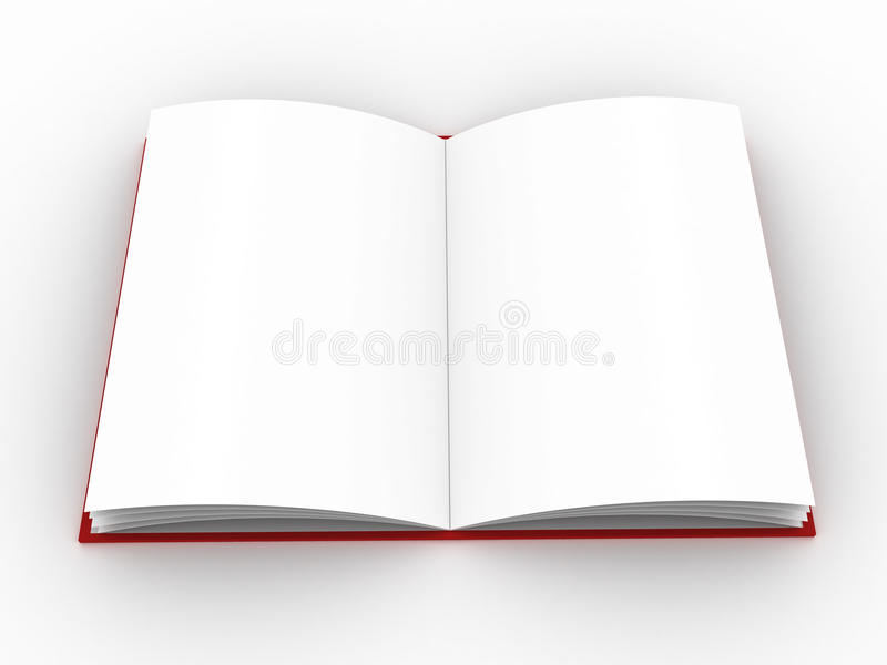 Book or planner. High-res blank book. fill in your own graphic or text to make this an e-book, or a picture of a book at your choice stock illustration