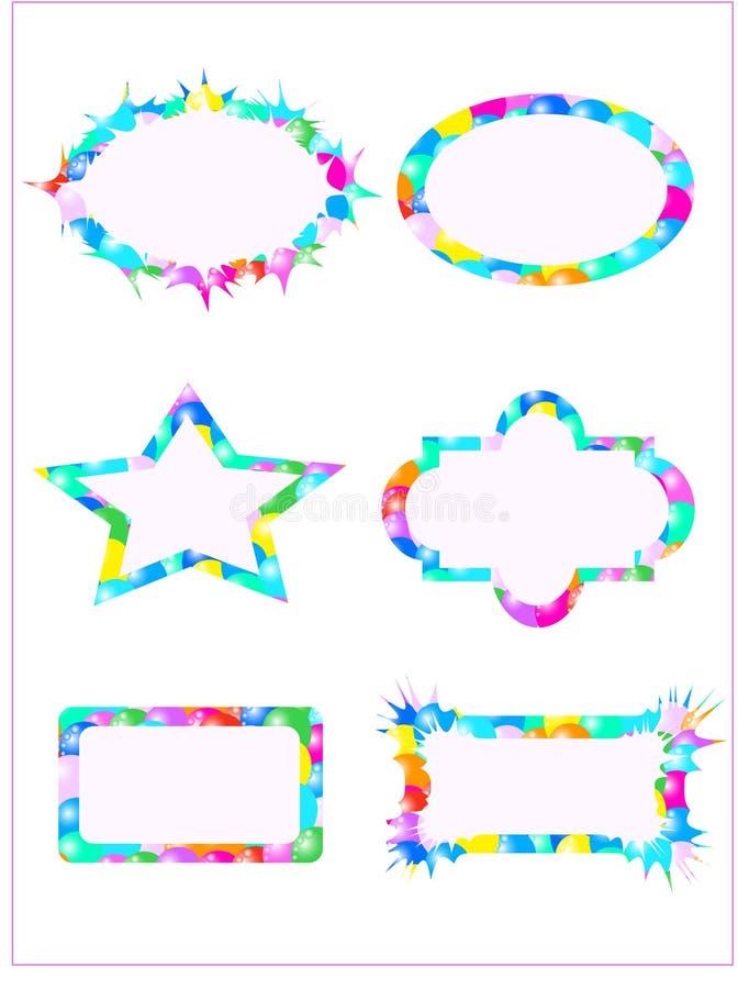 Book plates. Illustration of book plates, balloons vector illustration