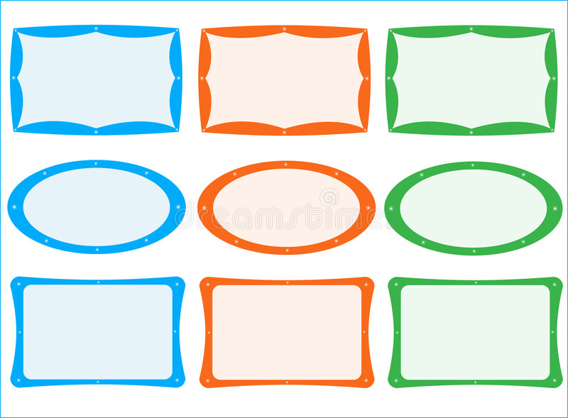 Book plates vector illustration