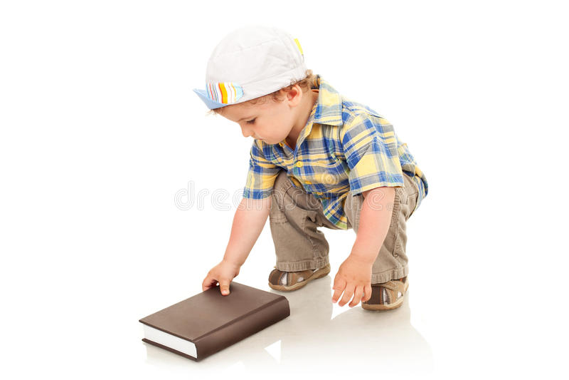 book pojkeöppningen arkivfoton