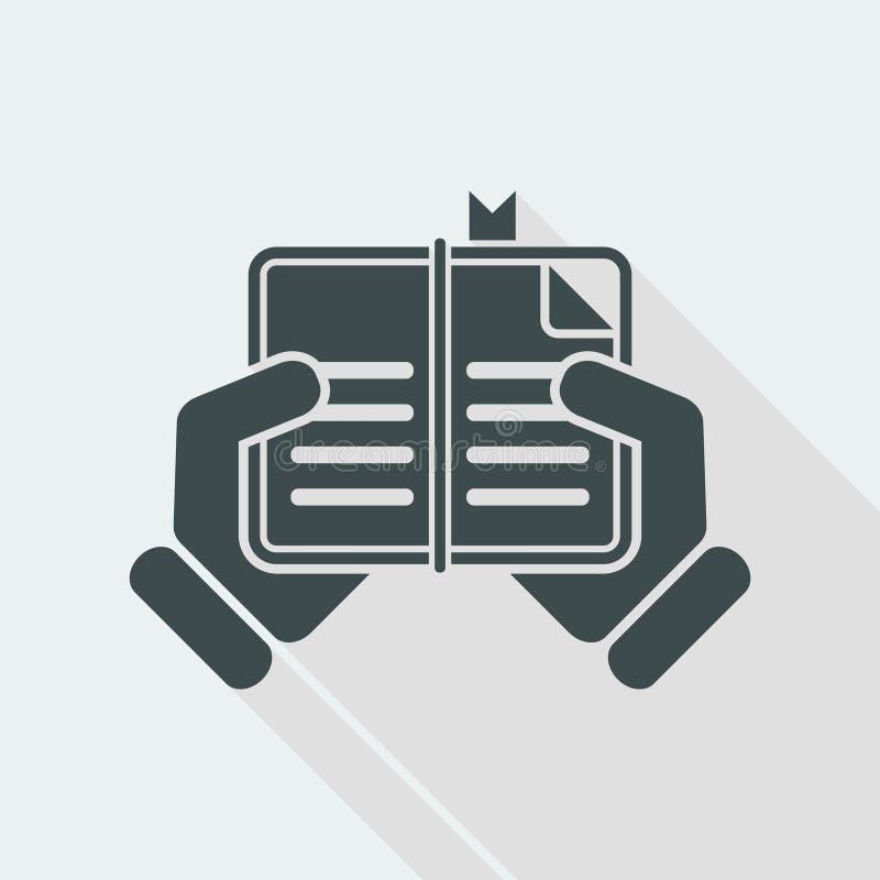 Book read icon vector illustration