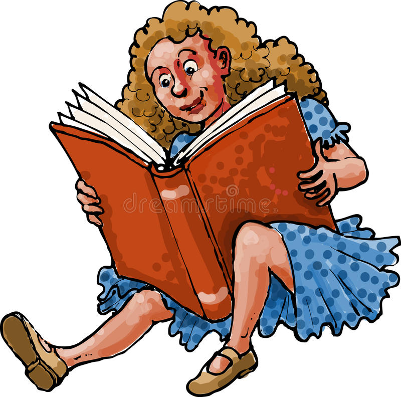 Book reading child royalty free stock photography