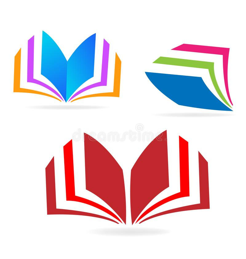 Book reading icon sets. Design illustration royalty free illustration
