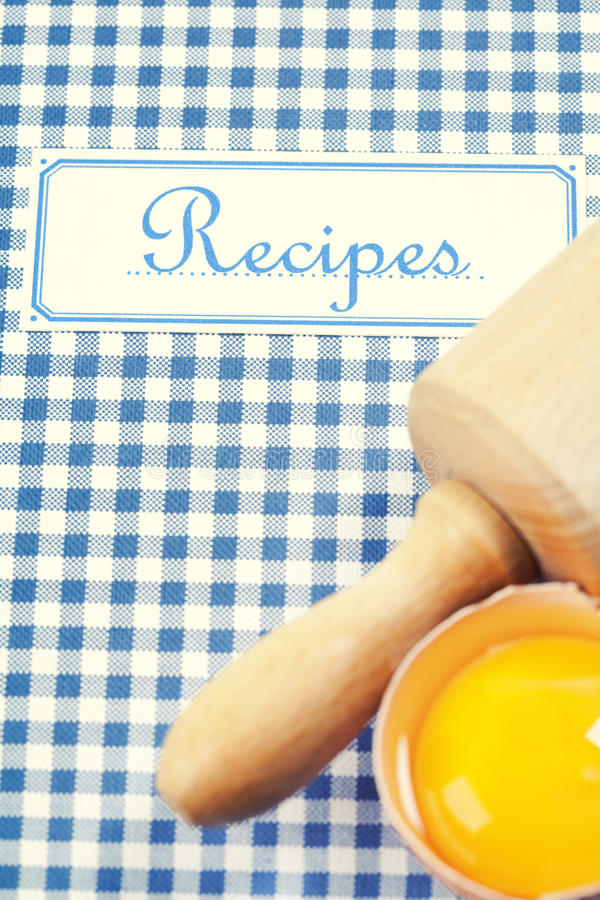 The Book Of Recipes Stock Image