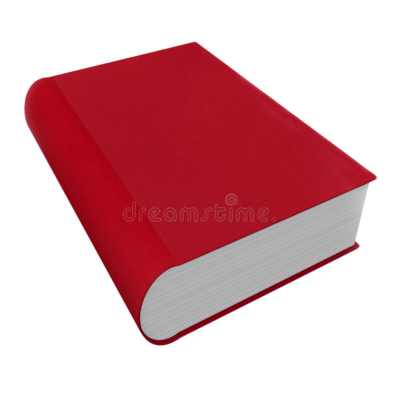 Book Red 3d Cover Novel Fiction Advice Help Manual stock illustration