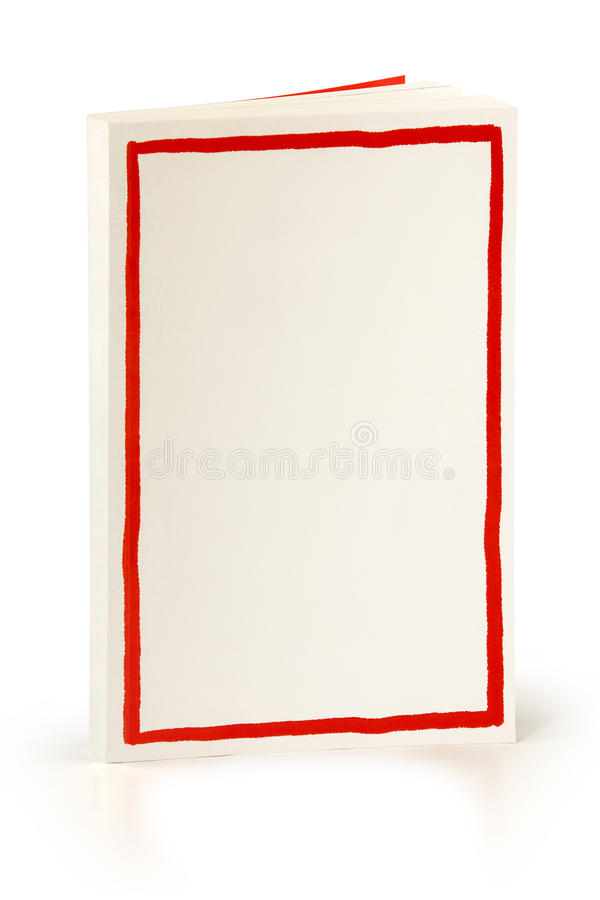 Book with red frame - clipping path stock image