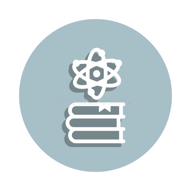 Book, science badge icon. Simple glyph, flat vector of genetics and bioenginnering icons for ui and ux, website or mobile. Application on white background royalty free illustration