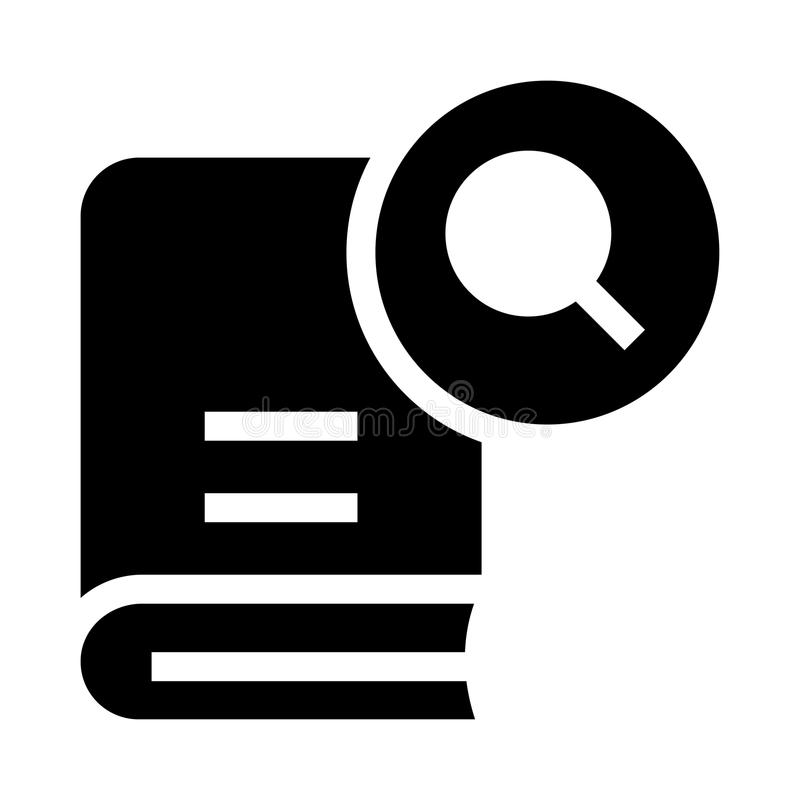 Book search glyphs icon. Book search Vector glyphs Icon. Elements for mobile concept and web apps. Thin line icons for website design and development, app vector illustration