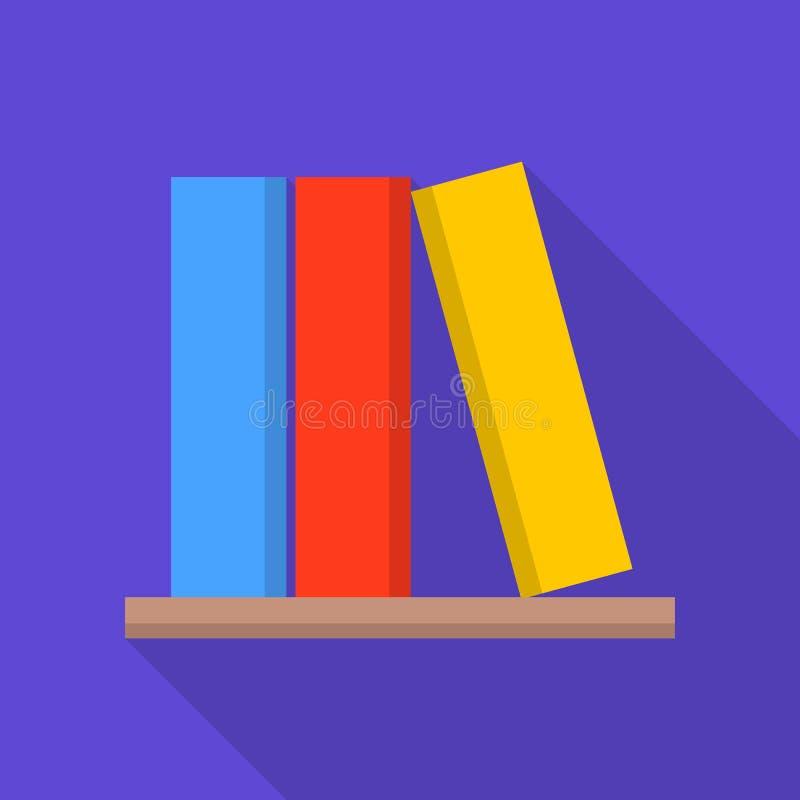 Book on shelf icon, flat style royalty free illustration