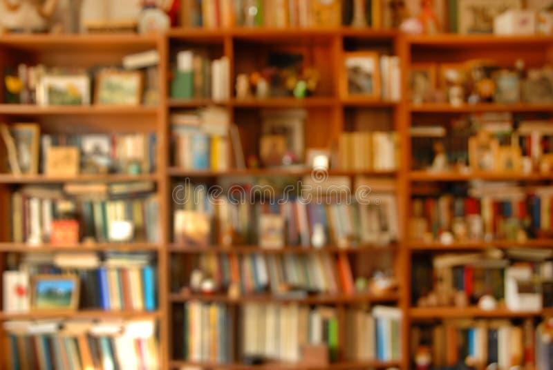 Book shelves stock photography