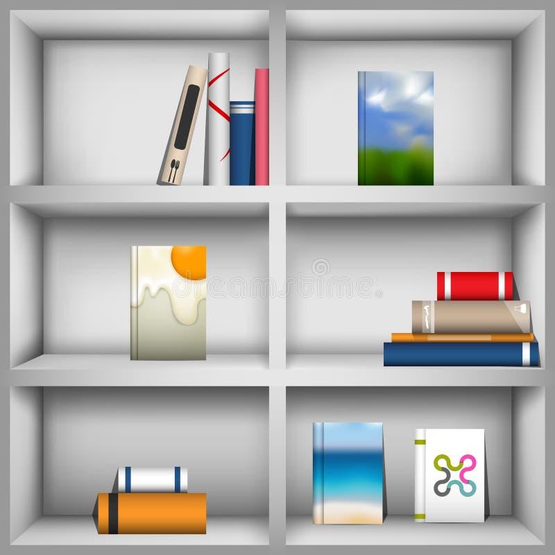 Book shelves stock illustration