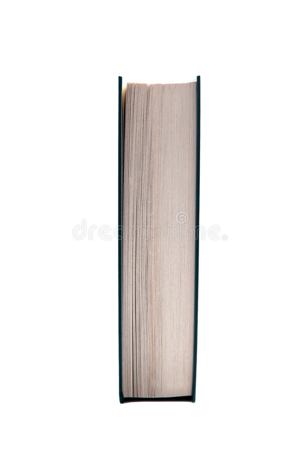Book side view stock photography